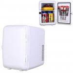 Vehicle Auto Portable Mini Cooler and Warmer 4L Refrigerator for Car and Home, Voltage: DC 12V/ AC 220V (White)