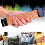 6 Fret Portable Pocket Guitar Practice Tool Gadget for Beginner Chord Fingering Practice Tool