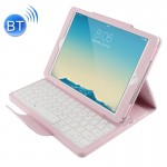 For iPad Air 2 Bluetooth Keyboard Litchi Texture Smart Cover Leather Case with Holder and Sleep Function(Pink)