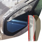 2 PCS Flexible Shelding Rain Board Sun Visor Shade Rearview Mirror for Car Rearview Mirrors(Transparent)