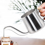 350ML Long Narrow Spout 304 Stainless Steel Hand Drip Coffee Pot with Hanging Ear