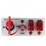 Flip-up Start Ignition Switch Panel and Accessories for Racing Sport (DC 12V)