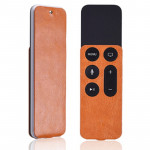 For Apple TV 4th Generation Siri Remote PU Leather Protective Case Pouch(Orange)
