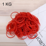 Red Sturdy Stretchable Elastic Rubber Bands Home School Office Supplies Stationery, 1KG Per Bag