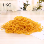 Yellow Sturdy Stretchable Elastic Rubber Bands School Office Supplies Stationery, 1KG Per Bag