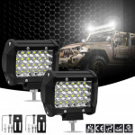 4 inch 72W 2500LM 4 Row LED Strip Light Working Refit Off-road Vehicle Lamp Roof Strip Light