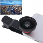 HE-22 Universal Super Wide 0.4X Lens with Clip, Suit for iPhone 6 & 6 Plus, Samsung, HTC, Cameras(Red)