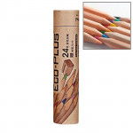 Kids Adults Sketch Coloring Books Drawing Vibrant Colors 24-color Wooden Colored Pencils Set