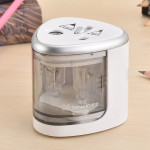 Office School Stationery Battery Operated Dual Slots Electric Colored Pencil Sharpener, Random Color Delivery