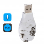 Ink Painting Pattern Portable Audio Voice Recorder USB Drive, 8GB, Support Music Playback