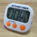 Digital Kitchen Timer Electronic Alarm Magnetic Backing with LCD Display for Cooking Baking Sports Games Office(Orange)