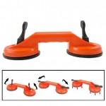 Double Suction Cup Dent Puller Glass Handle Repair Tool for PC / Laptop / iMac / LCD TV, Diameter: 11.5cm