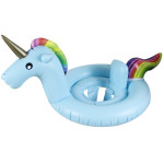 Children Summer Water Fun Inflatable Unicorn Shaped Pool Ride-on Swimming Ring Floats, Size: 170*120cm(Blue)