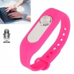 Wearable Wristband 4GB Digital Voice Recorder Wrist Watch, One Button Long Time Recording(Magenta)