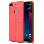 For HTC Desire 12+ Litchi Texture Soft TPU Protective Back Cover Case(Red)