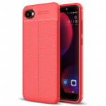 For HTC Desire 12 Litchi Texture Soft TPU Protective Back Cover Case (Red)