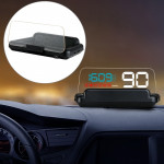 C500 Car HUD Virtual HD Projection Head-up Display, With Adjustable Reflection Board, Speed & RPM & Water Temperature & Oil Cons