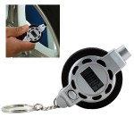 0.5PSI / 0.05Bar Portable Mini 1/4 inch LCD Digital Tyre Pressure Gauge Tester with Key Ring