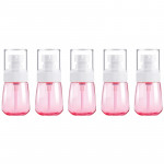 5 PCS Travel Plastic Bottles Leak Proof Portable Travel Accessories Small Bottles Containers, 30ml(Pink)