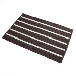 Striped Non Slip Shaggy Soft Water Absorption Bedroom Bathroom Carpet Mat, Size: 43*65cm(Coffee)