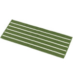 Striped Non Slip Shaggy Soft Water Absorption Bedroom Bathroom Carpet Mat, Size: 43*110cm(Green)