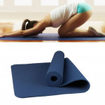 6mm Thickness Eco-friendly TPE Anti-skid Home Exercise Yoga Mat, Size:183*61cm(Dark Blue)