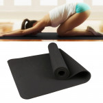 6mm Thickness Eco-friendly TPE Anti-skid Home Exercise Yoga Mat, Size:183*61cm(Black)