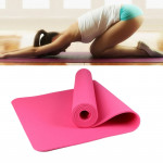 6mm Thickness Eco-friendly TPE Anti-skid Home Exercise Yoga Mat, Size:183*61cm(Pink)