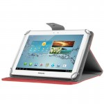 Universal Crazy Horse Texture Horizontal Flip Leather Case with Holder for 10 inch Tablet PC(Red)