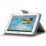 Universal Crazy Horse Texture Horizontal Flip Leather Case with Holder for 10 inch Tablet PC(White)