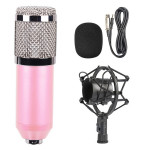 BM-800 3.5mm Studio Recording Wired Condenser Sound Microphone with Shock Mount, Compatible with PC / Mac for Live Broadcast Sho