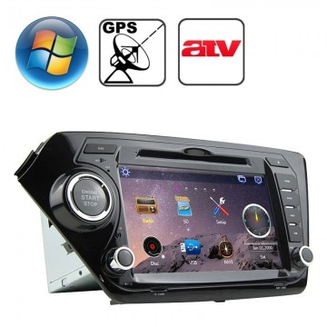 Rungrace 8 0 inch Windows CE 6 0 TFT Screen In-Dash Car DVD Player for KIA  K2 with Bluetooth / GPS / RDS / ATV