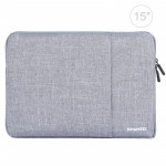 HAWEEL 15.0 inch Sleeve Case Zipper Briefcase Laptop Carrying Bag, For Macbook, Samsung, Lenovo, Sony, DELL Alienware, CHUWI, ASUS, HP, 15 inch and Below Laptops(Grey)