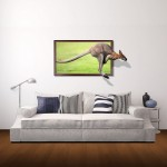 Wall Decor 3D Animal Removable Wall Stickers, Size: 96cm x 58cm