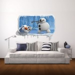 Wall Decor 3D Snowman Animal Removable Wall Stickers, Size: 87cm x 58cm