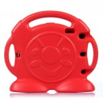 Anpanman Pattern EVA Bumper Portable Protective Case with Handle & Holder for iPad Air / iPad 5(Red)