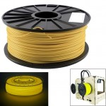 ABS 1.75 mm Luminous 3D Printer Filaments, about 395m(Yellow)