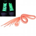 2 PCS Fashion Sports Fluorescent Color Flat Shoelaces(Pink)