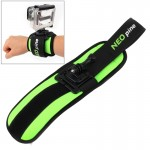 NEOpine Sports Diving Wrist Strap Mount Stabilizer 360 Degree Rotation for GoPro HERO4 /3+ /3 /2 /1(Green)