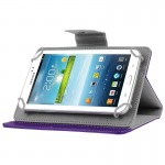 Universal Crazy Horse Texture Horizontal Flip Leather Case with Holder for 8 inch Tablet PC(Purple)