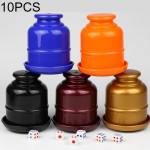 10 PCS Thickening Plastic Dice Cup Shaker Cup with Bottom Bar Nightclubs KTV Accessories Entertainment Desktop Games without Dic