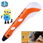 Orange Stylo d'impression 3D portable, prise EU - Wewoo