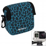 GN-5 Leopard Texture GoPro Accessories Waterproof Housing Neoprene Inner Protective Bag Camera Pouch for GoPro Hero4 /3+ /3(Blue