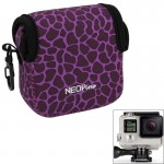GN-5 Leopard Texture GoPro Accessories Waterproof Housing Neoprene Inner Protective Bag Camera Pouch for GoPro Hero4 /3+ /3(Purp