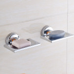 2 PCS ABS Square Drain Bathroom Suction Cup Soap Holder