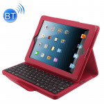 Bluetooth 3.0 Keyboard with Detachable Leather Case for iPad 4 / 3 / 2(Red)
