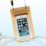 Beach Waterproof Storage Bag with Strap for iPhone 5 & 5s & SE & 5C, Inner Size: 17.5cm x 11.3cm