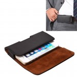 Crazy Horse Texture Vertical Flip Genuine Leather Case / Waist Bag with Back Splint for iPhone 4S / 5 / 5S / 5C(Black)
