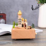 Christian Auditorium Shape Home Decor Originality Wooden Musical Boxes