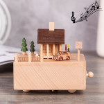 Chalet Shape Home Decor Originality Wooden Musical Boxes